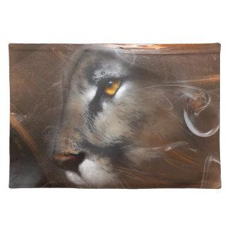 cougar animals,wildlife,wildlife art,nature, gifts placemats