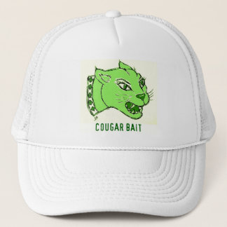 COUGAR BAIT PRINT IN GREEN TRUCKER HAT