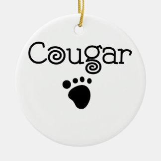 Cougar Ceramic Ornament