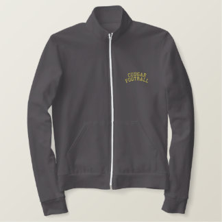Cougar Football Embroidered Embroidered Jacket