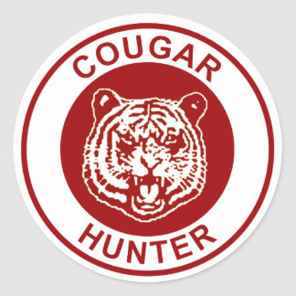 Cougar Hunter Classic Round Sticker