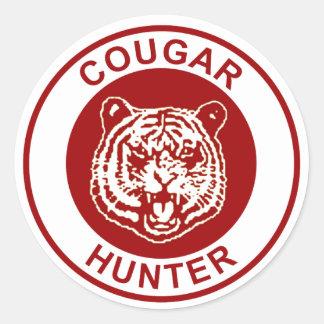 Cougar Hunter Round Sticker