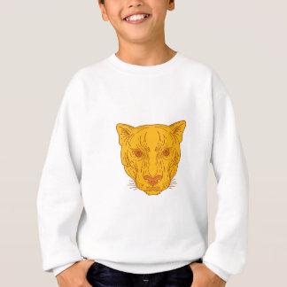 Cougar Mountain Lion Head Mono Line Sweatshirt