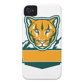 Cougar Mountain Lion Head Retro iPhone 4 Cases