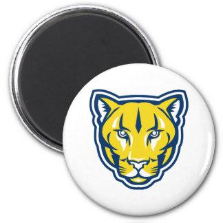 Cougar Mountain Lion Head Retro Magnet