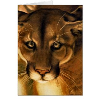 Cougar - Mountain Lion - Puma Card