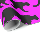 Cougar Mountain Lion Puma Silhouette Wrapping Paper