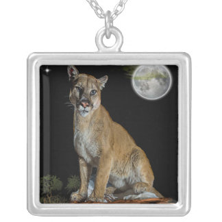 cougar mountaintee silver plated necklace