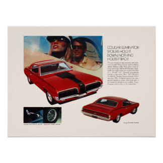 Cougar Muscle Car Ad Poster