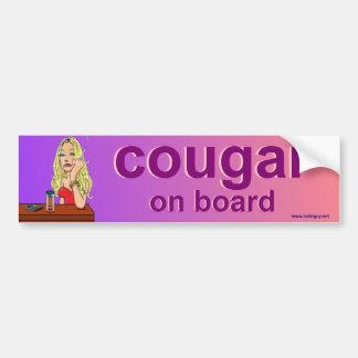 cougar on board bumper sticker