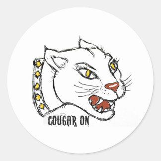 COUGAR ON - PRINT by jill Sticker