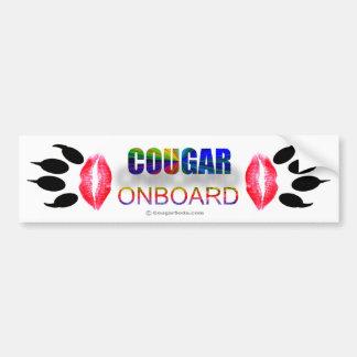 """Cougar Onboard"" Bumper Sticker"