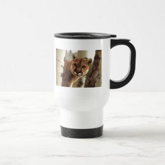 Cougar Photograph Stainless Steel Travel Mug