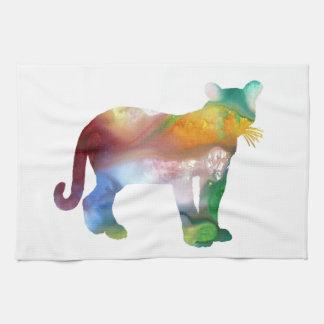 Cougar / Puma art Tea Towel