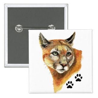 Cougar, Puma, Mountain Lion Animal Tracks 15 Cm Square Badge