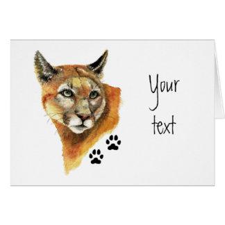 Cougar, Puma, Mountain Lion Animal Tracks Card