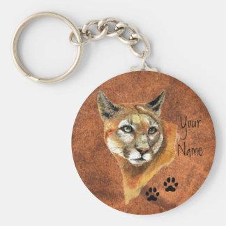 Cougar, Puma, Mountain Lion Animal Tracks Key Ring