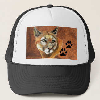 Cougar, Puma, Mountain Lion,Tracks Baseball Cap
