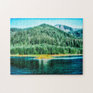Cougar Reservoir Oregon. Jigsaw Puzzle