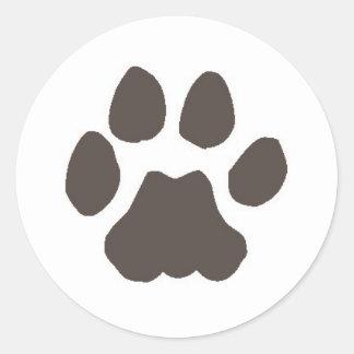 Cougar Track Classic Round Sticker