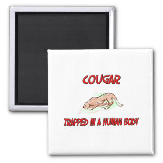 Cougar trapped in a human body magnet
