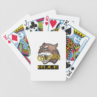 COUGARS RULE BICYCLE PLAYING CARDS