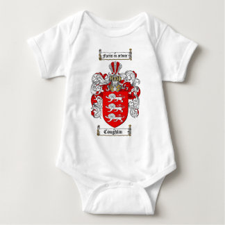 COUGHLIN FAMILY CREST -  COUGHLIN COAT OF ARMS BABY BODYSUIT