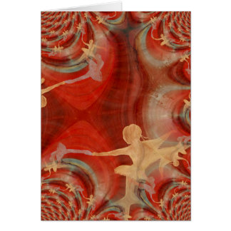 Couleur D'une Danse De Ballet 3 Card