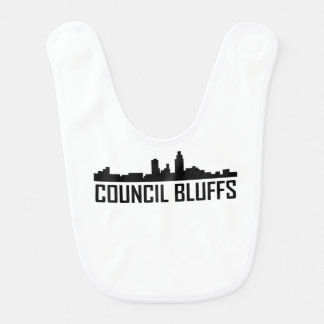 Council Bluffs Iowa City Skyline Bib