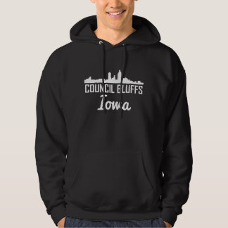 Council Bluffs Iowa Skyline Hoodie