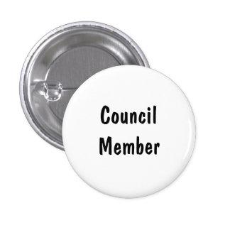 Council Member Pinback Buttons