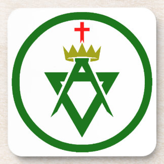 Council of Allied Masonic Degrees plain Coaster