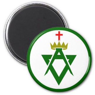 Council of Allied Masonic Degrees plain Magnet
