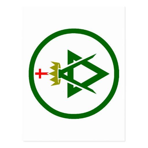 Council of Allied Masonic Degrees plain Postcard