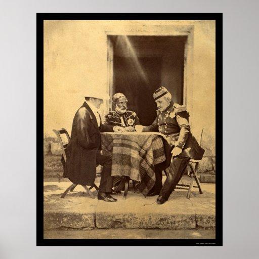 Council of War 1855 Print