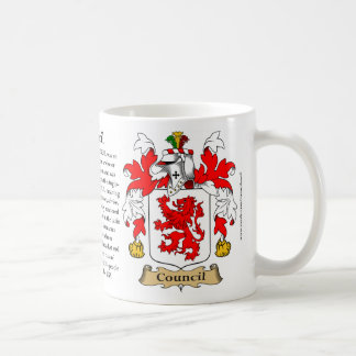 Council, the Origin, the Meaning and the Crest Mugs