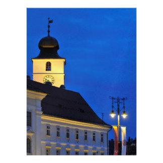 Council Tower at night Sibiu Custom Invite