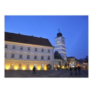Council tower at night, Sibiu Invites