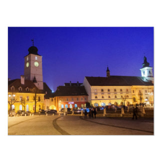 Council tower at night, Sibiu Announcement