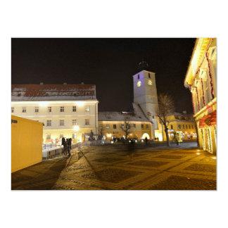 Council Tower at night, Sibiu Custom Announcements