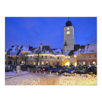 Council tower at night, Sibiu Personalized Invitations