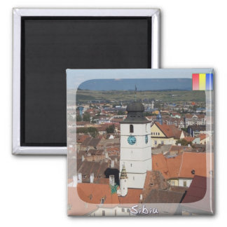 Council Tower Square Magnet