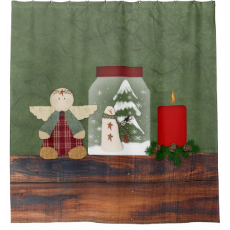 Counrty Christmas Shower Curtain
