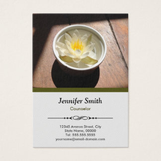 Counselor - Elegant Water Lily Appointment Business Card