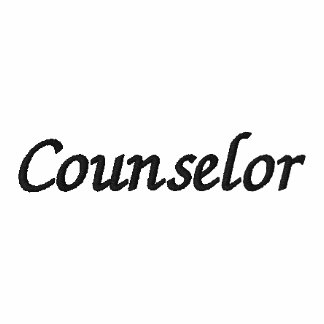 Counselor Embroidered Shirt