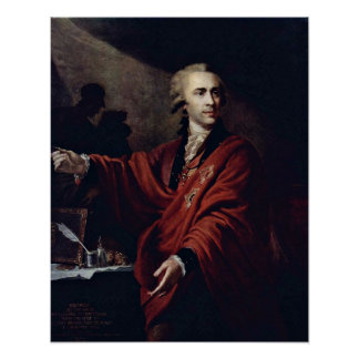 Count Alexei Pushkin by Giovanni Lampi the Elder Poster