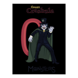 Count Crashula in Red Numbers (monsters series) Poster
