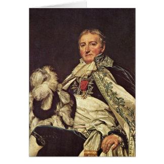 Count De Nantes Francais By Jacques-Louis David Greeting Card