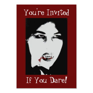 Count Dracula Halloween Vampire Dinner Invitation