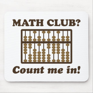 Count Me in the Math Club Mouse Pads